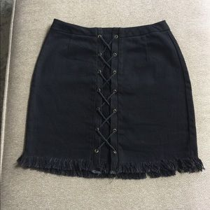 Hayden LA Black  Fringe Skirt (like new)